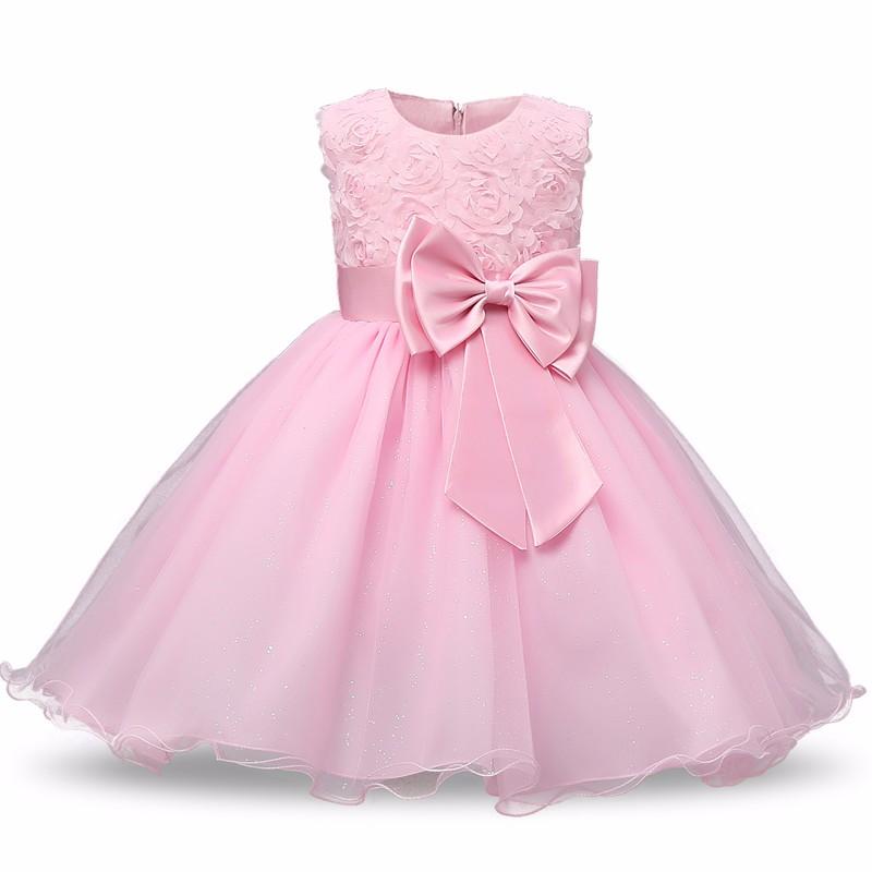 Tylové šaty s mašlí Barevná varianta: Světle růžová, Možnosti velikostí: 3M