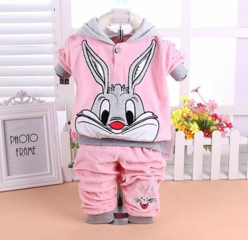 Teplákový set Bugs Bunny Barevná varianta: Světle růžová, Možnosti velikostí: 80