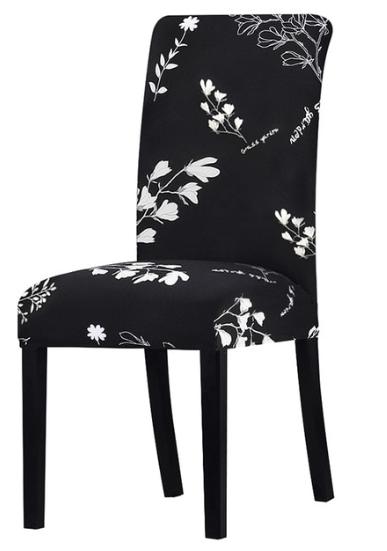 Potahy na židle Varianty: černá, bílé květiny