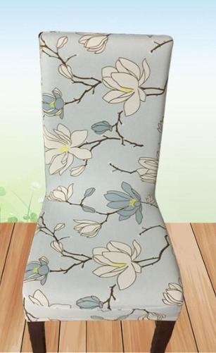 Potahy na židle s opěradlem Varianty: sv. modrá, kytky