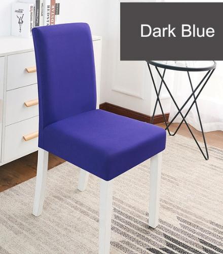 Jednobarevné potahy na židle Barva: tm. modrá