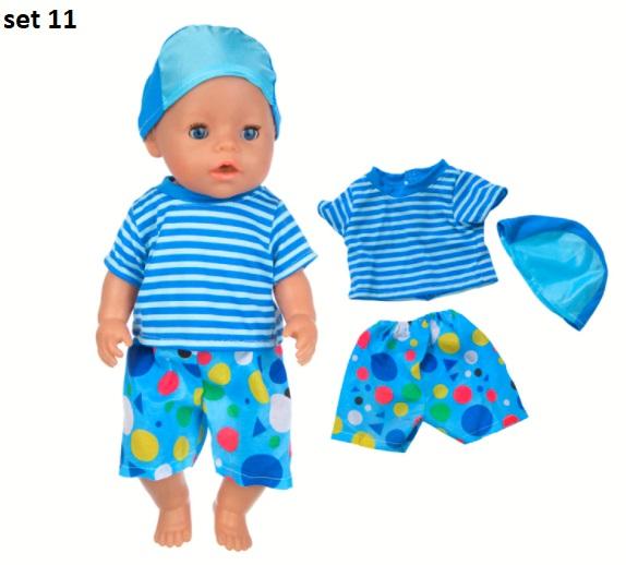 Roztomilé sety oblečků na American girl a BABY Born 43 cm Varianta: set 11