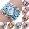 Disney princess children cartoon bracelet Frozen Elsa lovely wristand girl gift clothing accessories bangle kid make 0