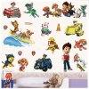 Real Cartoon For Children PAW Patrol PVC Waterproof 3D Stickers Home Decoration Background Wall Decoration of 2