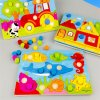 Color Cognition Board Montessori Educational Toys For Children Wooden Toy Jigsaw Kids Early Learning Color Match 0