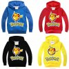 New Spring Autumn Sweatshirt Cotton Cartoon POKEMON GO Pikachu Kids Boys Girls Clothes Long Sleeve Hoodies 0