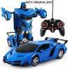New Rc Transformer 2 In 1 Rc Car Driving Sports Cars Drive Transformation Robots Models Remote 7