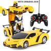 New Rc Transformer 2 In 1 Rc Car Driving Sports Cars Drive Transformation Robots Models Remote 8