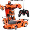 New Rc Transformer 2 In 1 Rc Car Driving Sports Cars Drive Transformation Robots Models Remote 9