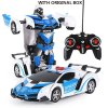 New Rc Transformer 2 In 1 Rc Car Driving Sports Cars Drive Transformation Robots Models Remote 10