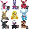 1 New Arrival Five Nights At Freddy s 4 FNAF Plush Toys 18cm Freddy Bear Foxy Chica (1)