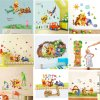 Cartoon Children Room Trees And Bear Pattern Wall Stickers Height Measure For Kids Room Children Nursery 1