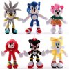 1 Sonic Plush Doll Toys Black Blue Yellow Sonic Plush Soft Stuffed Toy Hot Game Doll For (1)