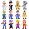 1 8 15cm Super Mario Figures Toys Super Mario Bros Bowser Luigi Koopa Yoshi Mario Maker Odyssey (1)