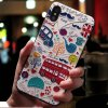 4 Eqvvol Cute 3D Emboss Cartoon Patterned Phone Case For iphone X 8 7 6 6S Plus