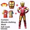Iron man kostým + masky + rukavice