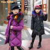 30 degrees Girls Cotton padded Outerwear Coats 2018 Winter Children Warm Clothes fashion multicolour Fur 1