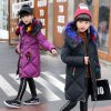 30 degrees Girls Cotton padded Outerwear Coats 2018 Winter Children Warm Clothes fashion multicolour Fur 2