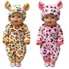 43cm Zapf Baby born doll clothes cartoon set for 18 inch american girl doll cute animal 5