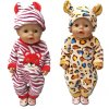 43cm Zapf Baby born doll clothes cartoon set for 18 inch american girl doll cute animal 6