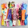 32 Item Set Doll Accessories 10 Pcs Doll Clothes Dress 4 Glasses 6 Plastic Necklace 2 2 (1)