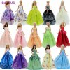 Lot 15 Pcs 10 Pairs Of Shoes 5 Wedding Dress Party Gown Princess Cute Outfit Clothes 2