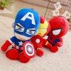 1pc 35cm Soft Stuffed Super Hero Captain America Iron Man Spiderman Plush Toys The Avengers Movie 2