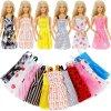Random 30 PCS Lot 12x Mixed Style Mini Dresses 12x Shoes 6x Necklaces Clothes For Barbie 2