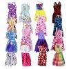 Random 30 PCS Lot 12x Mixed Style Mini Dresses 12x Shoes 6x Necklaces Clothes For Barbie 3