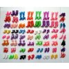60 Pairs set Fashion Heels Sandals Doll Shoes For Barbie Dolls Outfit Dress Lots of Designs 2