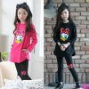 2018 New spring Girls clothes Sets Cartoon Donald Duck Lovely print Children Tracksuit kids clothing suit 6