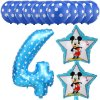 13pcs Mickey Minnie Number 1 2 3 4 5 Foil Balloons Set Helium Latex Globos Baby blue 4 b