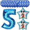 13pcs Mickey Minnie Number 1 2 3 4 5 Foil Balloons Set Helium Latex Globos Baby blue 5 b (1)