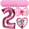13pcs Mickey Minnie Number 1 2 3 4 5 Foil Balloons Set Helium Latex Globos Baby pink 2 a