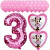 13pcs Mickey Minnie Number 1 2 3 4 5 Foil Balloons Set Helium Latex Globos Baby pink 3 b