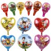 Paw Patrol Foil Balloons 1pc 18inch Hot Cartoon Dog Handheld Globos Birthday Party Decorations Kids Toys 1