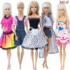 12 5 Pcs Lot Handmade Mini Dress Mixed Style Wedding Party Wear Skirt Lace Gown Clothes for