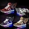 Dětské svítící boty s křídly