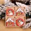 Dřevěné vánoční ozdoby 12ks/balení