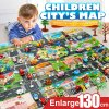 39Pcs City Map Car Toys Model Crawling Mat Game Pad for Children Interactive Play House Toys 1
