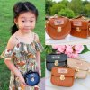 Girls Mini Cute Chain Crossbody Bags PU Leather Coin Purse Small Messenger Bags Kids Round Shoulder 0