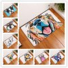 New Cartoon Style Lovely Dog Painting Dogs Print Carpets Anti slip Floor Mat Outdoor Rugs Animal 0