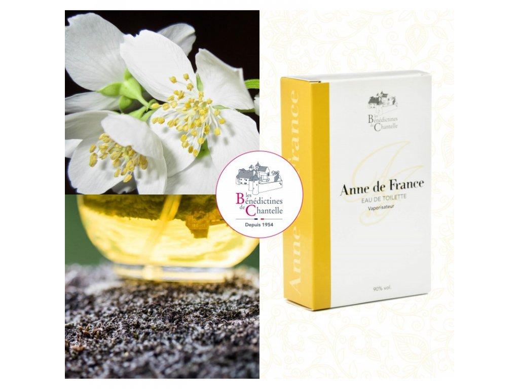 Toaletni voda Anna de France s kvety flakon 100ml Klaster Chantelle Francie