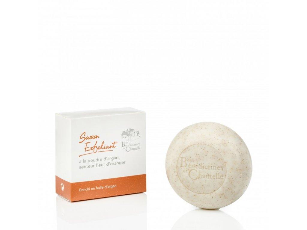Exfoliacni mydlo s vuni pomerancoveho kvetu obohaceno arganovym olejem 150g Klaster Chantelle Francie