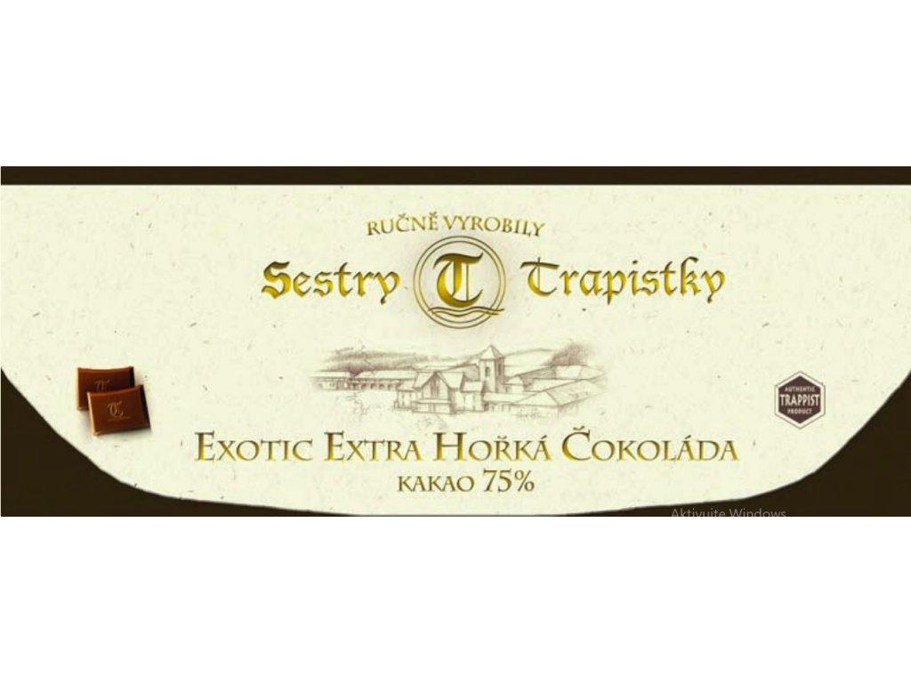 Exotic extra horka cokolada Klaster Policany Cesko