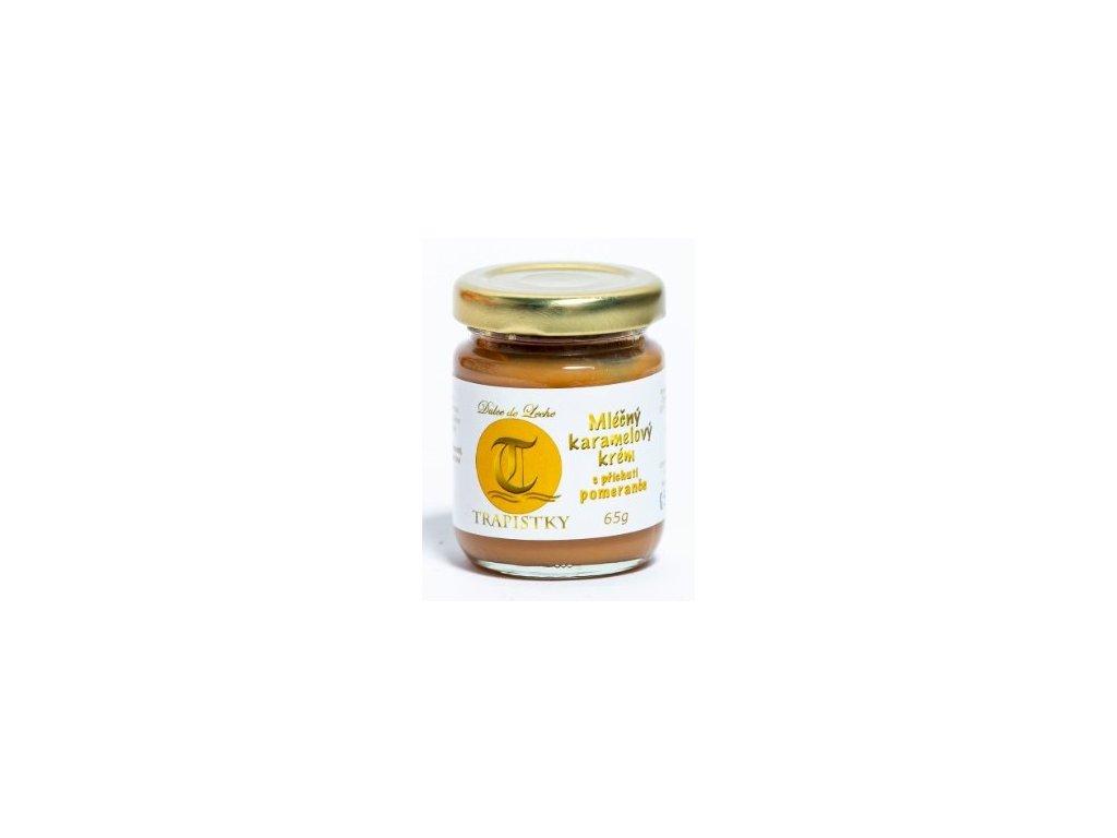 mlecne karamelovy krem Pomerancovy 65g klaster Policany Cesko v1