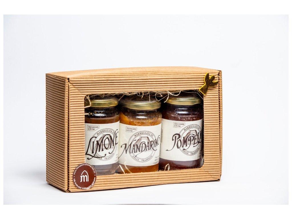 Italské nahořklé citrusové marmelády - dárkový balíček