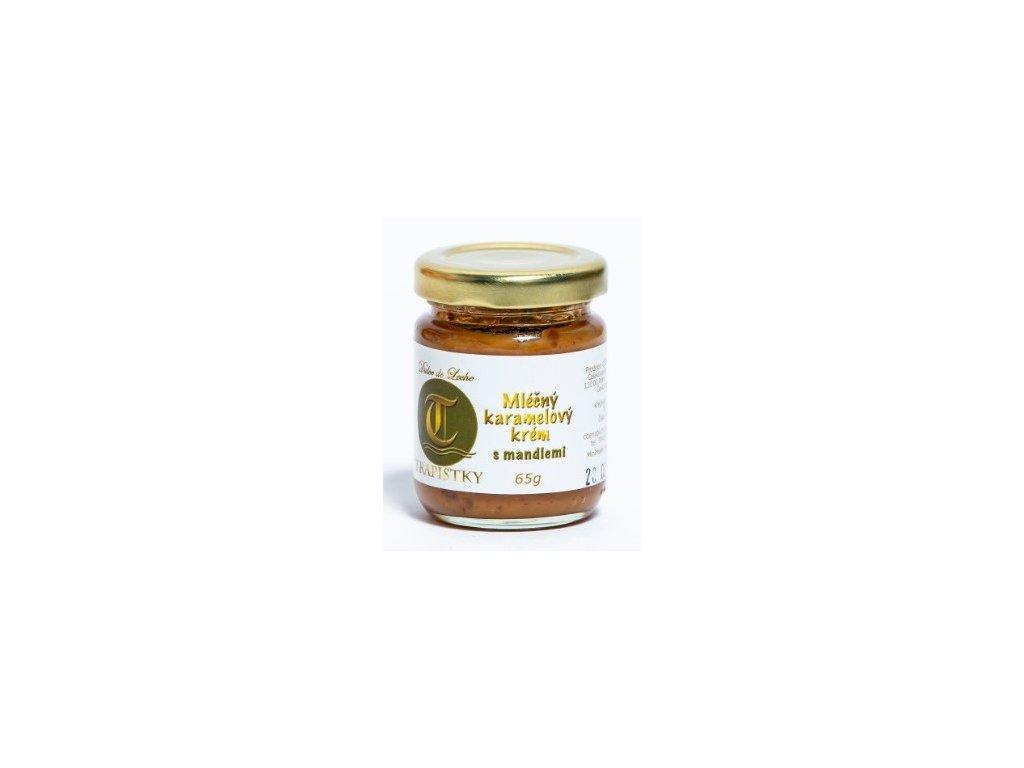 mlecne karamelovy krem Mandlovy 65g klaster Policany Cesko v1