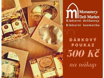 Darkovy poukaz MDM a MC 500Kc 1strana