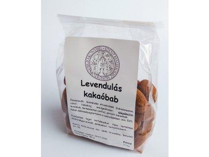 Levandulove kakaove boby v horke cokolade zepredu Klaster Bakonybel Madarsko OREZ